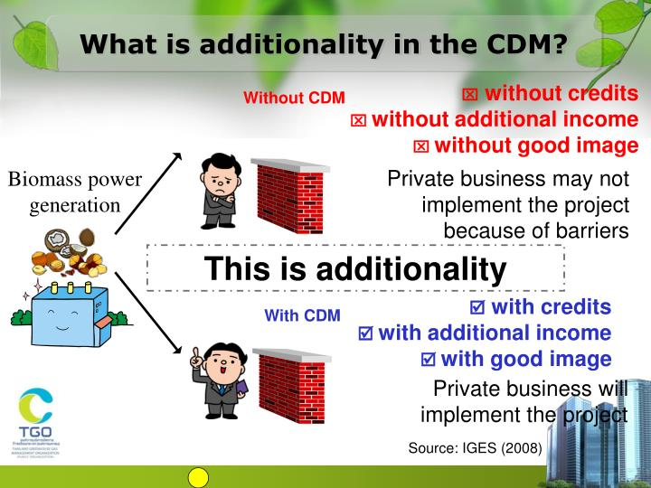 What is additionality in the CDM?