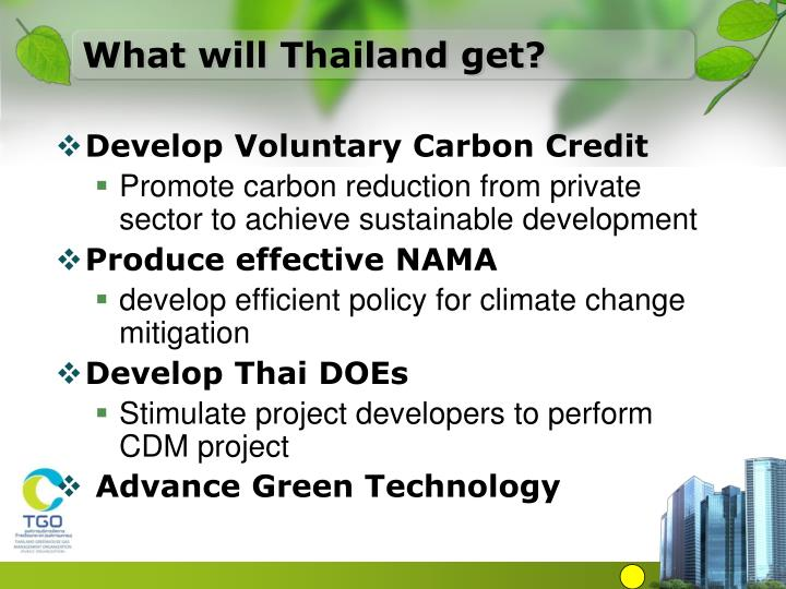 What will Thailand get?