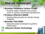 what will thailand get