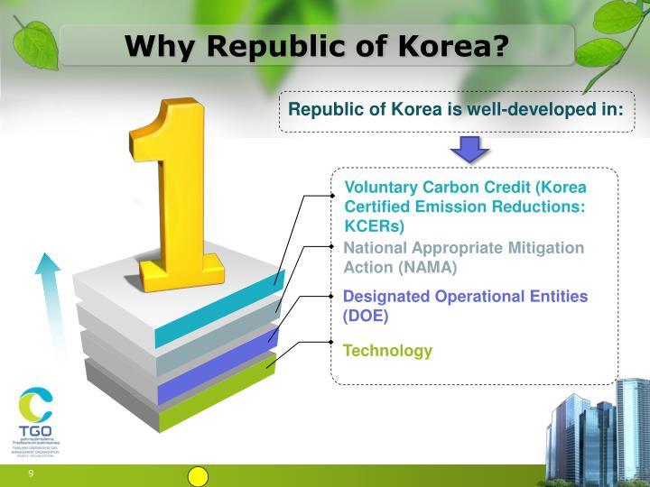 Why Republic of Korea?