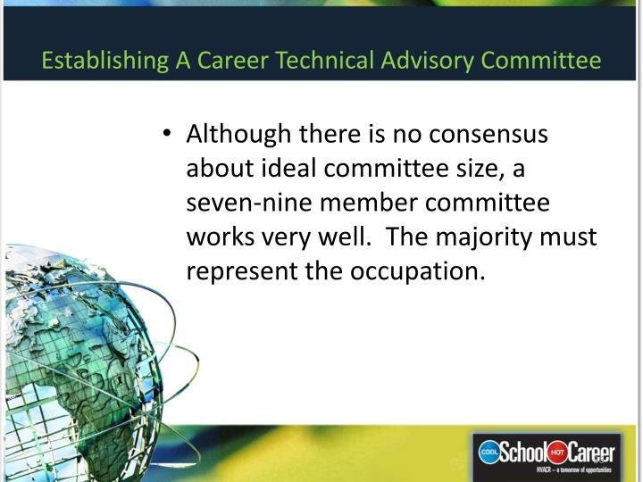 Establishing A Career Technical Advisory Committee