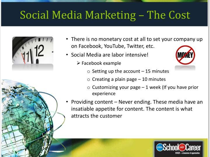 Social Media Marketing – The Cost