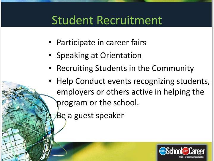Student Recruitment