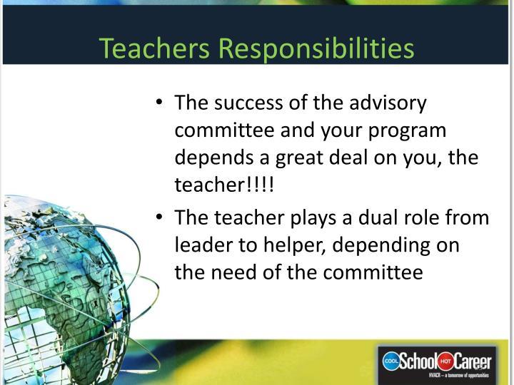 Teachers Responsibilities