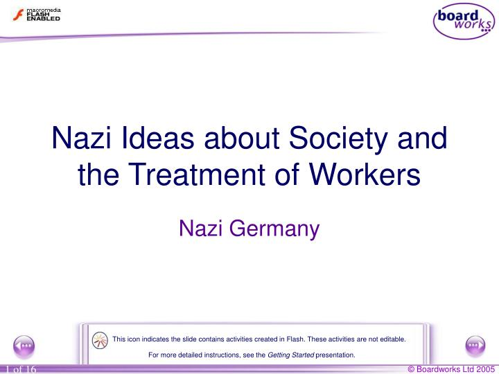 Nazi ideas about society and the treatment of workers