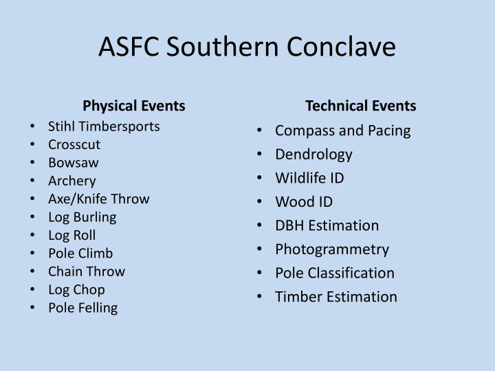 ASFC Southern Conclave