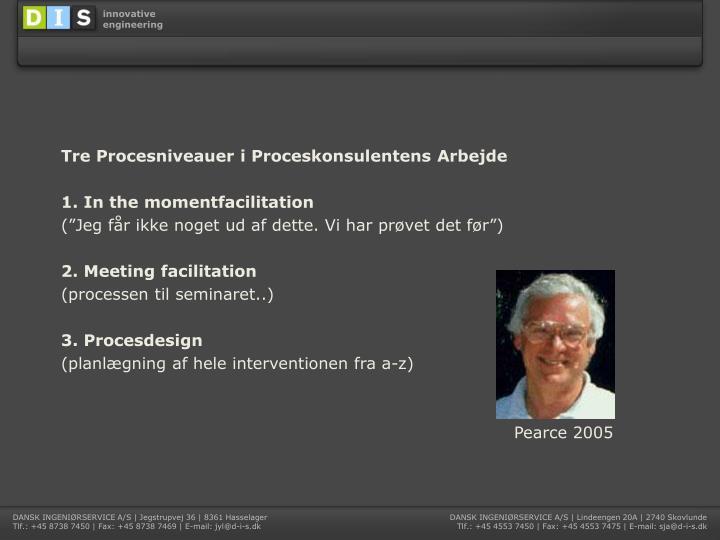 Tre Procesniveauer i Proceskonsulentens Arbejde