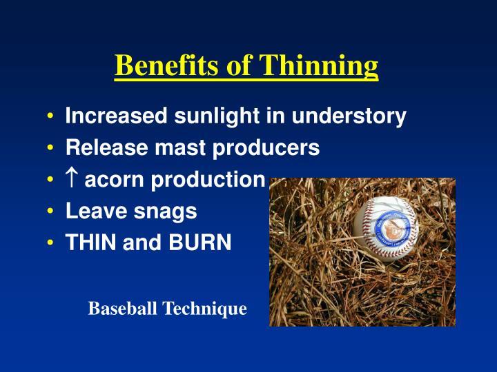Benefits of Thinning