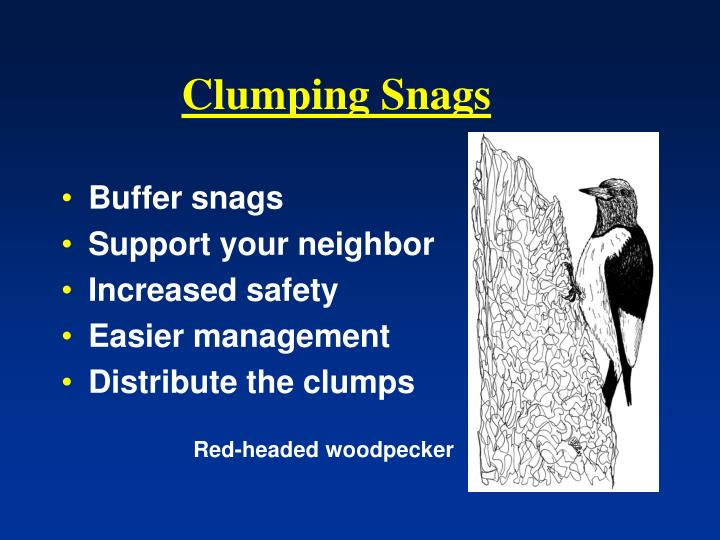 Clumping Snags
