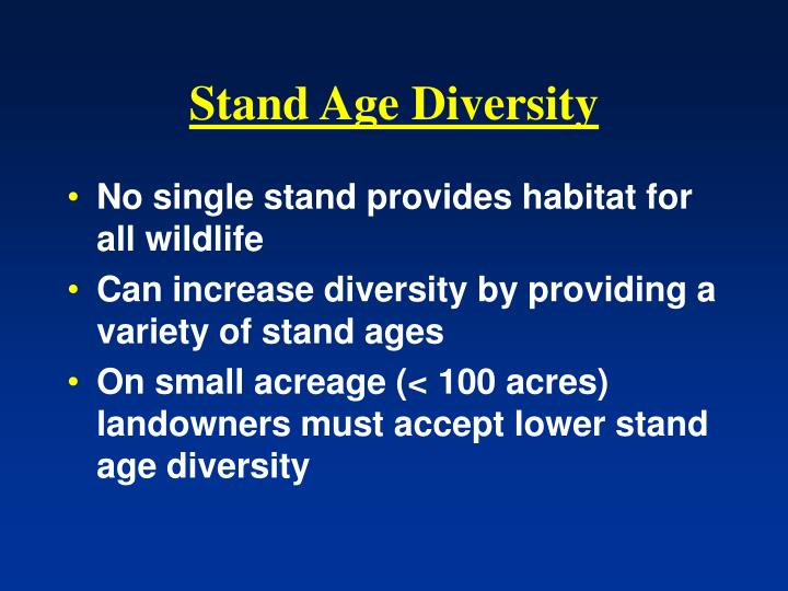 Stand Age Diversity