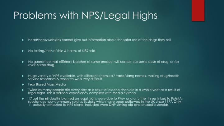 Problems with NPS/Legal Highs