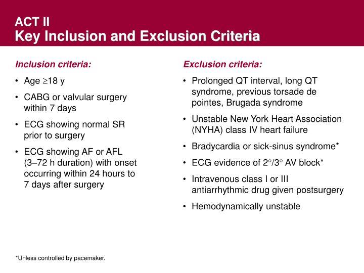 Inclusion criteria: