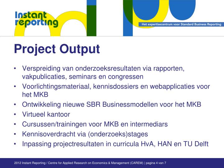 Project Output