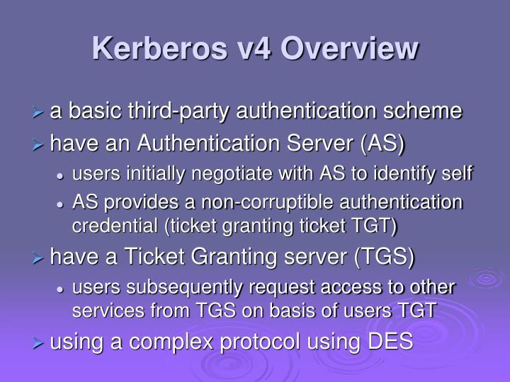Kerberos v4 Overview