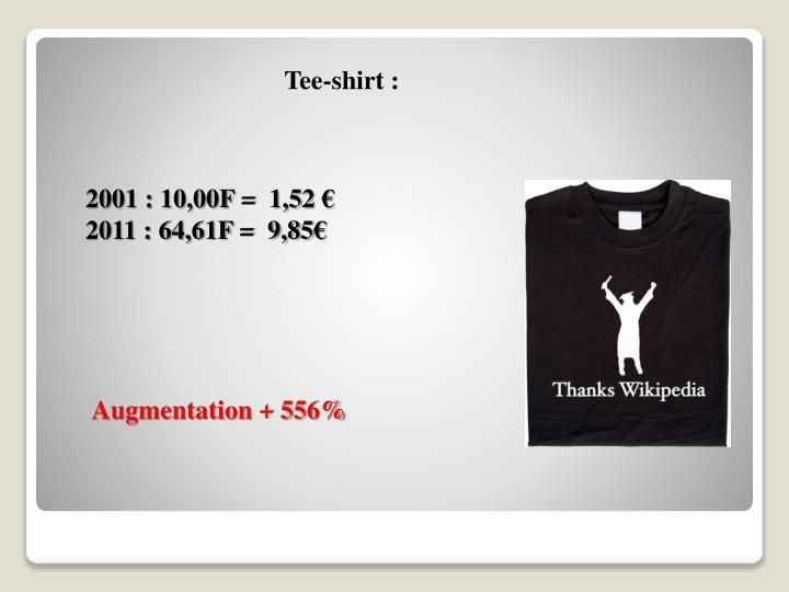 Tee-shirt :
