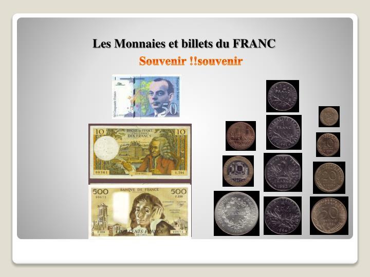 Les Monnaies et billets du FRANC