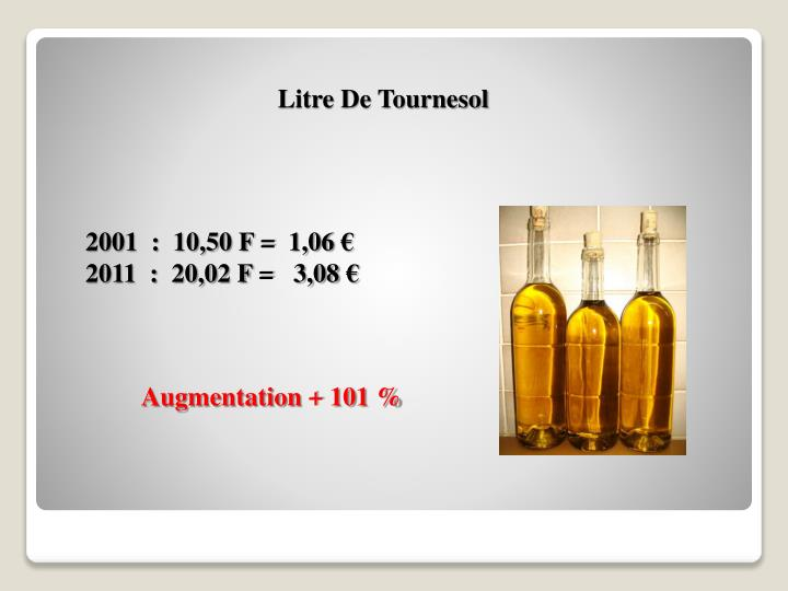 Litre De Tournesol