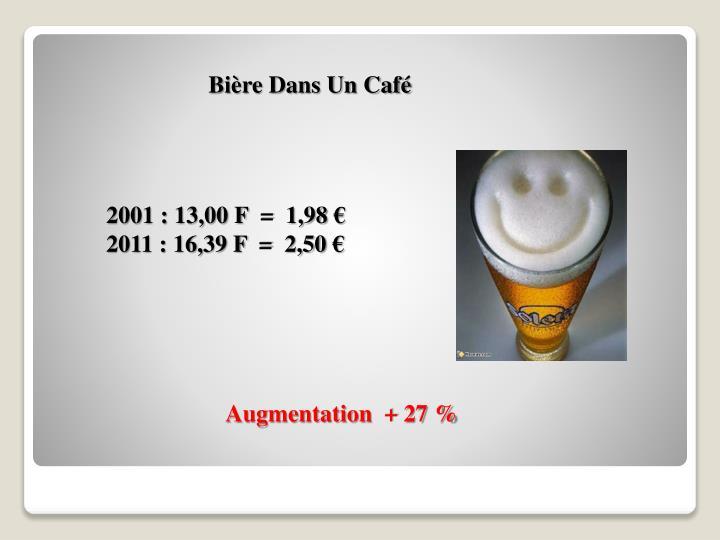 Bière Dans Un Café