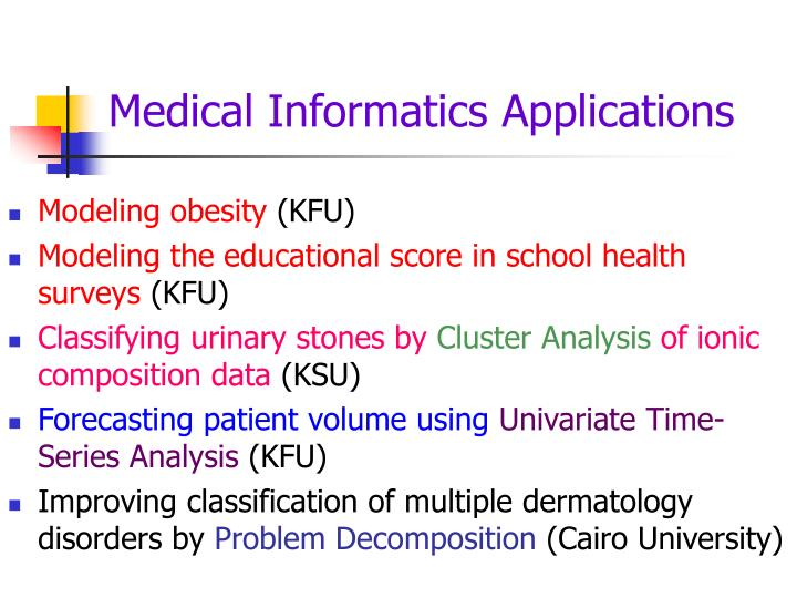 Medical Informatics Applications