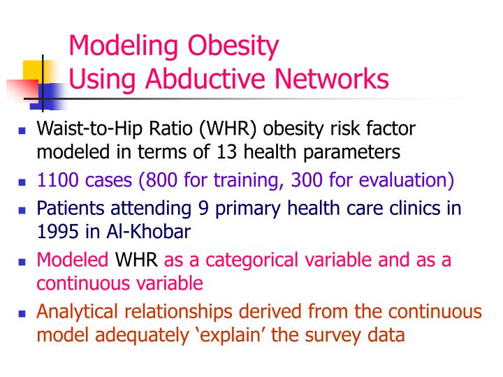 Modeling Obesity                Using Abductive Networks