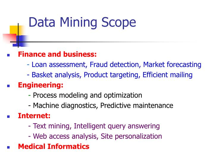 Data Mining Scope