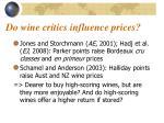 do wine critics influence prices