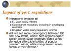impact of govt regulations
