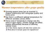 warmer temperatures alter grape quality