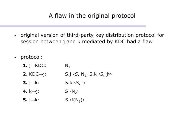 A flaw in the original protocol
