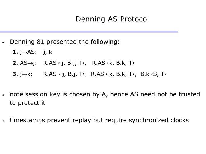 Denning AS Protocol