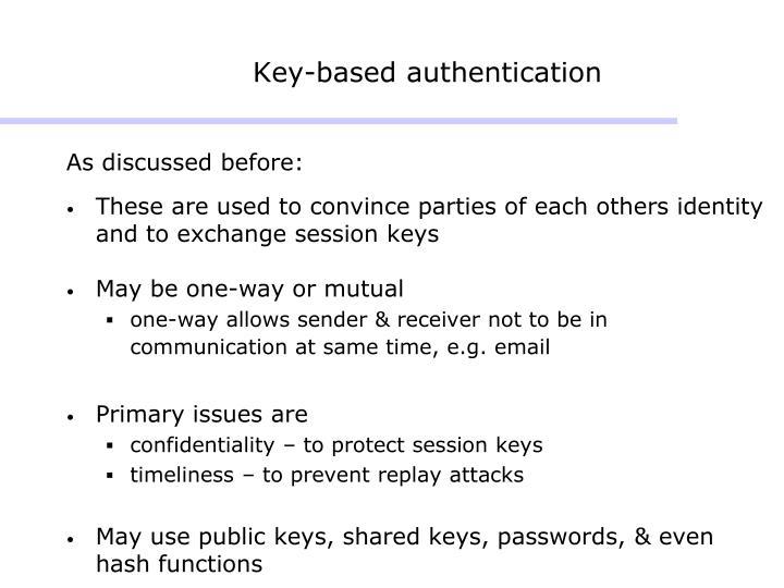 Key-based authentication