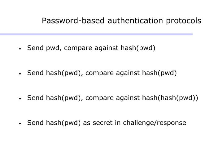 Password-based authentication protocols