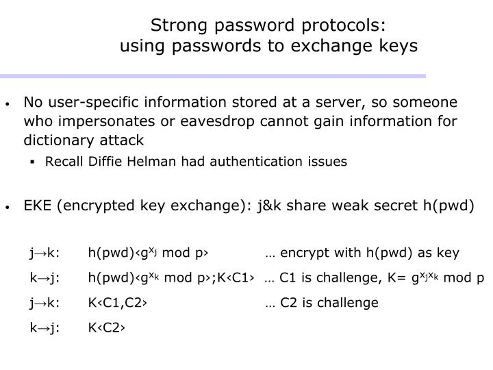 Strong password protocols: