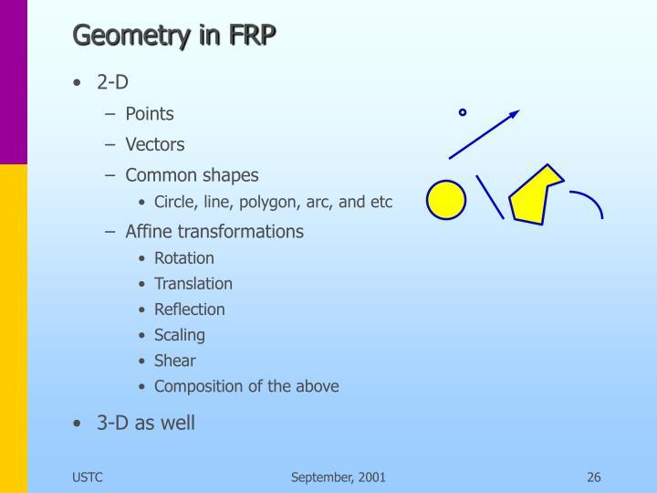 Geometry in FRP