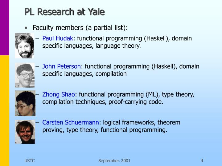 PL Research at Yale