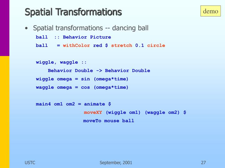 Spatial Transformations
