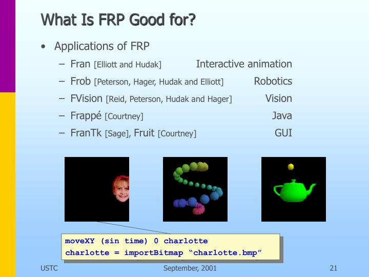 What Is FRP Good for?