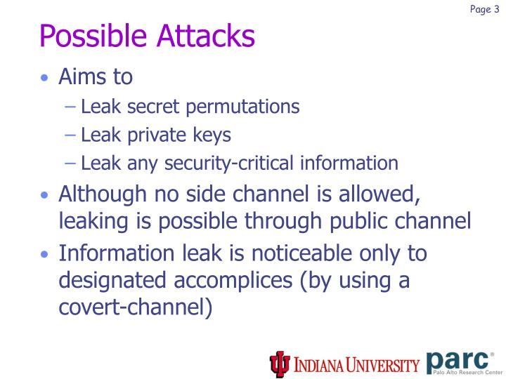 Possible Attacks