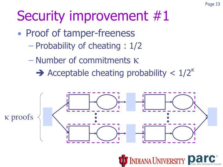 Security improvement #1