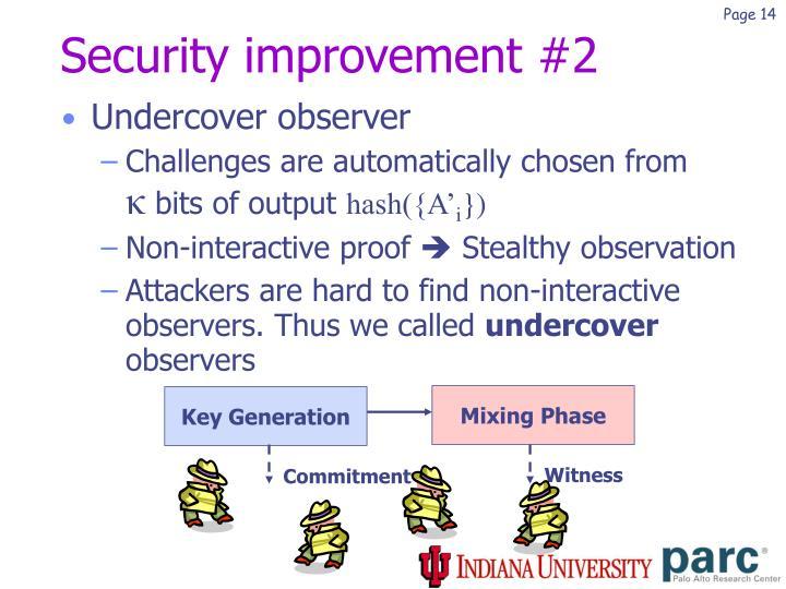 Security improvement