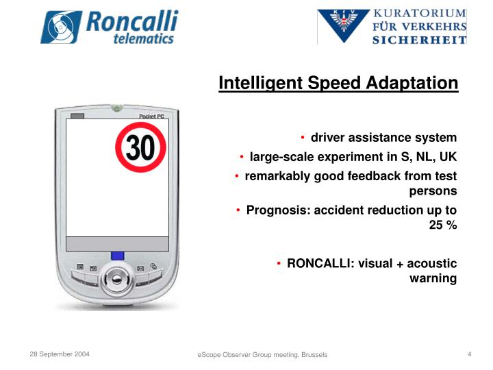 Intelligent Speed Adaptation