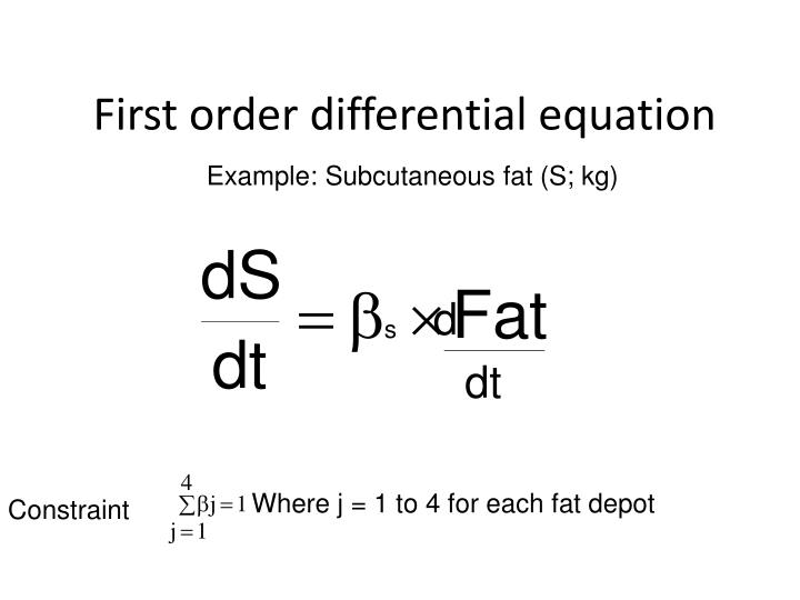 First order differential equation