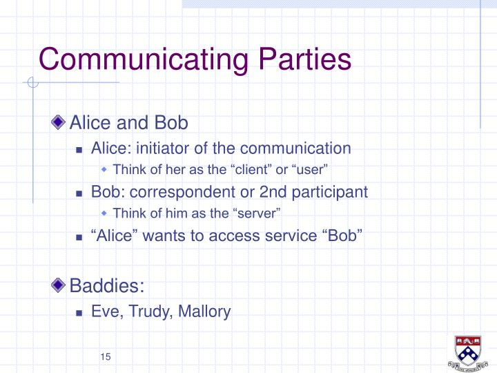Communicating Parties