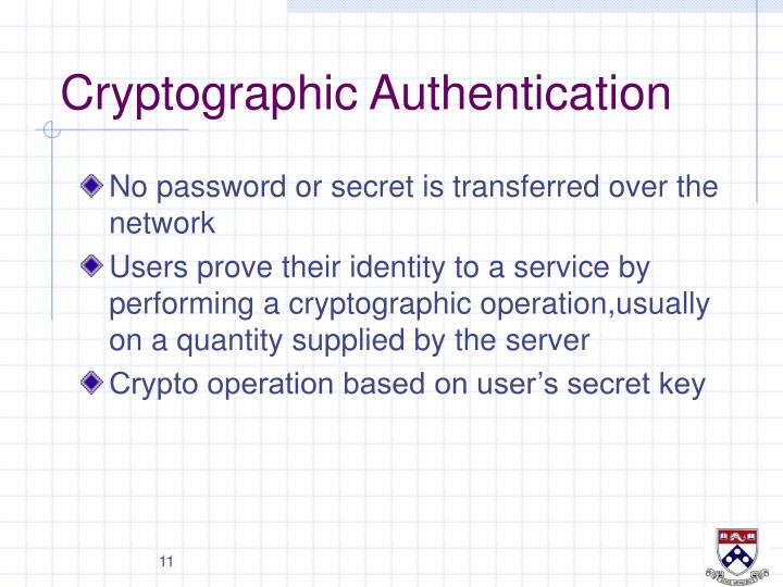 Cryptographic Authentication