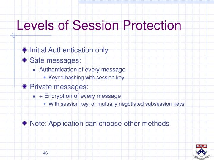 Levels of Session Protection
