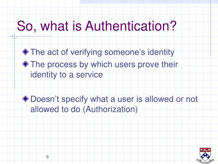 So, what is Authentication?