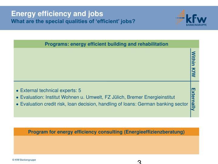 Energy efficiency and jobs