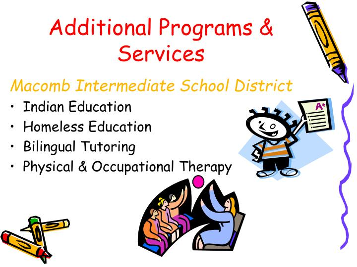 Additional Programs & Services