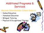 additional programs services1