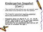kindergarten snapshot cont